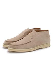 Замшевые ботинки Open Walk Loro Piana