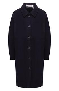 Однотонное шерстяное пальто See by Chloé