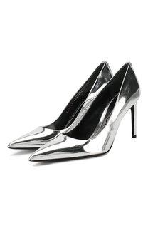 Туфли из металлизированной кожи T Screw на шпильке Tom Ford