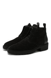 Замшевые ботинки на шнуровке с внутренней меховой отделкой Giuseppe Zanotti Design