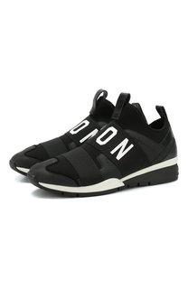 Текстильные кроссовки Icon без шнуровки Dsquared2