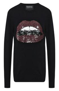 Шерстяной пуловер с пайетками Markus Lupfer