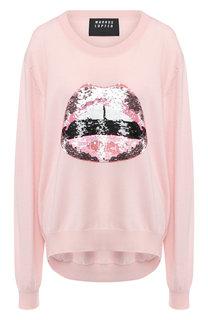 Пуловер свободного кроя с пайетками Markus Lupfer