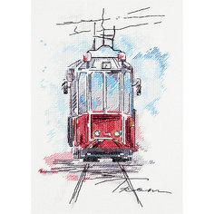 """Набор для вышивания Panna """"Бэкстич"""" Городской трамвай, 17х25 см"""