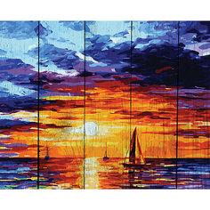 """Картина по номерам на дереве Фрея """"Утро на море"""", 50х40 см"""