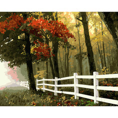 "Картина по номерам на холсте Фрея ""Осенний лес"", 50х40 см"
