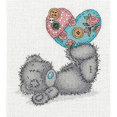 """Набор для вышивания мулине Klart """"Tatty Teddy с рукодельным сердцем"""", 14,5х16 см"""