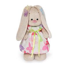 Мягкая игрушка Budi Basa Зайка Ми в летнем платье с бабочками на ушках, 25 см
