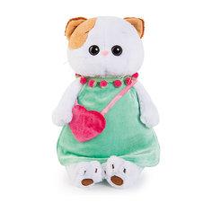 Мягкая игрушка Budi Basa Кошечка Ли-Ли в мятном платье с розовой сумочкой, 27 см