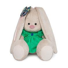 Мягкая игрушка Budi Basa Зайка Ми в зеленом платье с бабочкой, 18 см