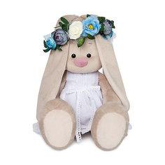 Мягкая игрушка Budi Basa Зайка Ми в белом платье и веночке, 34 см