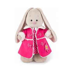 Мягкая игрушка Budi Basa Зайка Ми в платье и розовой дубленке, 25 см