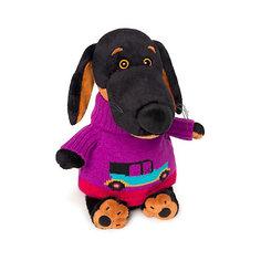 Мягкая игрушка Budi Basa Собака Ваксон в свитере с машинкой, 25 см