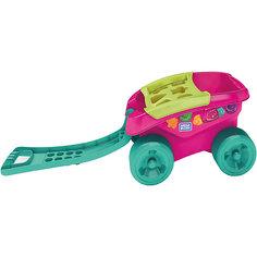 Тележка-сортер для сбора деталей (розовая) Mattel