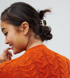 Заколка для волос из полимера цвета металлик Designb - Золотой