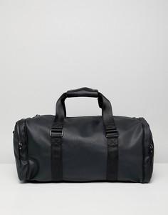 Черная сумка из искусственной кожи с карманами River Island - Черный