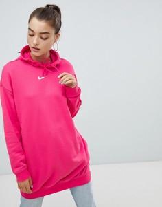 Розовый удлиненный худи Nike - Розовый