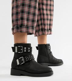 Байкерские ботинки для широкой стопы ASOS DESIGN Brooke - Черный