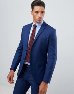 Синий облегающий пиджак Jack & Jones Premium - Синий