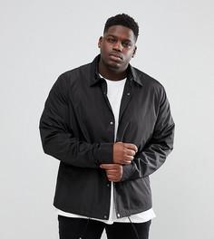 Черная спортивная куртка ASOS DESIGN Plus - Черный