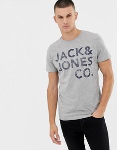 Футболка с принтом Jack and Jones - Серый