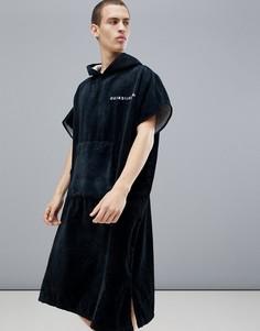 Черное полотенце-худи Quiksilver - Черный