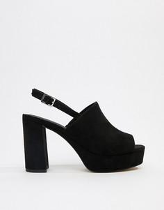 Туфли на каблуке ASOS DESIGN - Черный
