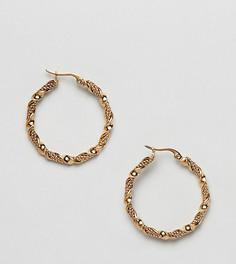 Позолоченные серьги-кольца Regal Rose - Золотой
