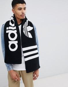 Черный шарф с логотипом adidas Originals D98954 - Черный