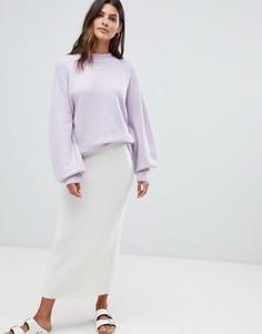 Свободный джемпер с открытой спиной Micha Lounge - Фиолетовый