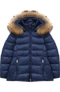 Стеганая куртка на молнии с капюшоном Add