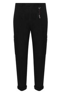 Шерстяные брюки-карго с подворотами HUGO