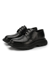 Кожаные дерби на шнуровке Alexander McQueen