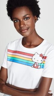 Chinti and Parker Hello Kitty Rainbow Stripe Tee