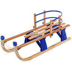"""Деревянные санки со съемной спинкой Small Rider """"Fold Compact"""", синие"""