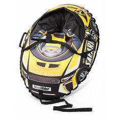 """Санки-тюбинг с сиденьем Small Rider """"Snow Cars 3"""", сафари жёлтый"""