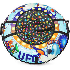 "Санки-тюбинг Small Rider ""UFO"" CZ, синий медвежонок"