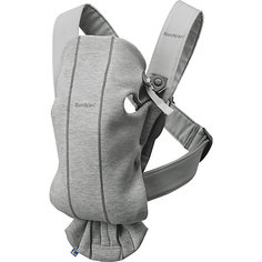 Рюкзак-кенгуру Mini Cotton Jersey, светло-серый Baby Bjorn