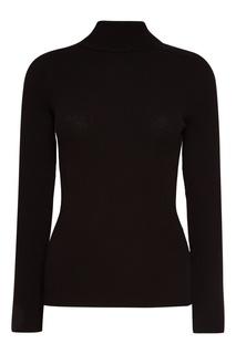 Черный свитер с расклешенными манжетами Knittedkiss