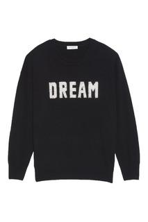 Черный пуловер с надписью Sandro