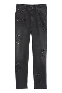 Черные джинсы с отделкой Sandro