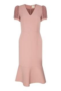 Розовое платье с кружевом The Dress