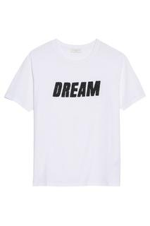 Белая футболка с контрастной отделкой Sandro