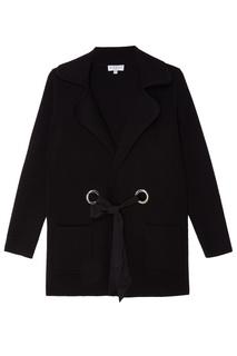Черное пальто с люверсами Claudie Pierlot