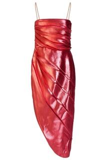 Розовое платье с драпировкой Gucci