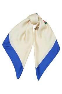 Шелковый платок с монограммой Gucci