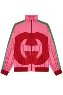 Розовая куртка с монограммой Gucci
