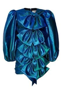 Фактурное платье с бантами Gucci