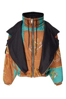 Объемная куртка с принтом Gucci