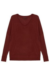 Коричневый пуловер Adolfo Dominguez